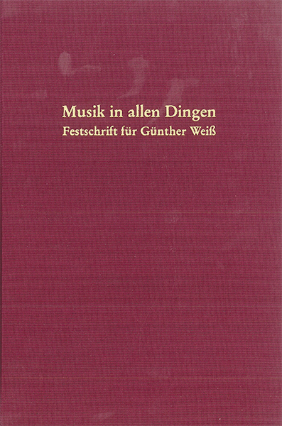 Cover Musik in allen Dingen